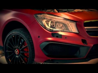 CLA  AMG in Rot Matt Foliert Julian Draxler